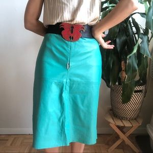 AS IS - Leather Pencil Skirt